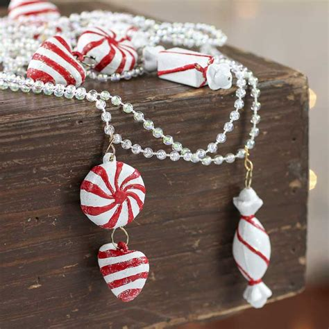 peppermint candy christmas garland on sale holiday crafts