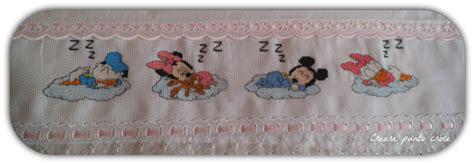 lenzuolino per lenzuolino punto croce baby disney lenzuolini creare