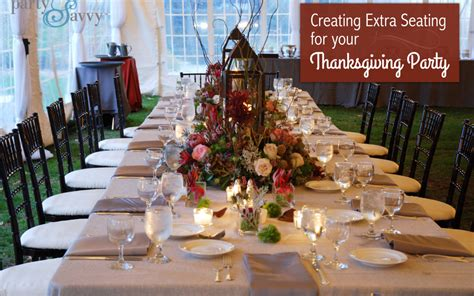 Extra Seating For Party | creating extra seating for your thanksgiving party