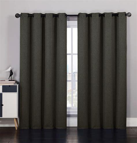 jacquard curtain panels pair of laurant jacquard chocolate window curtain panels w