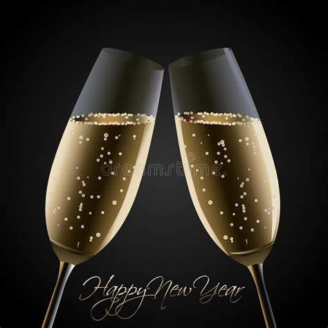 cheers happy new year happy new year cheers stock vector image of card