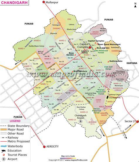 layout and land use of chandigarh chandigarh map india