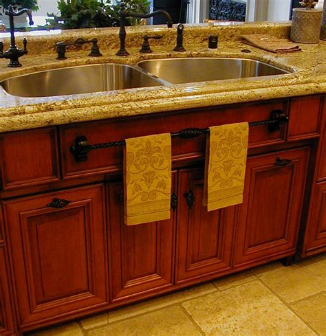 Kitchen Towel Bars Ideas Cherry Custom Kitchen By Cabineture The Furniture Kitchen