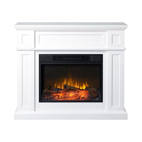 electric fireplace with mantle flamelux 41inch wide electric fireplace mantel in white