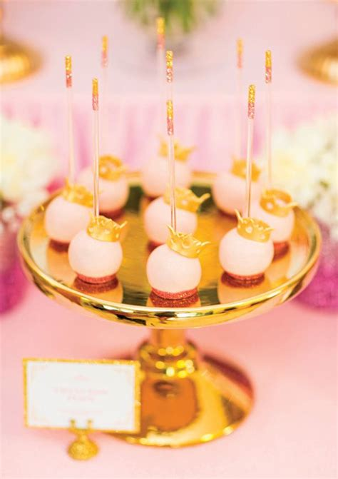 desserts birthday royal princess 1st birthday dessert table pink