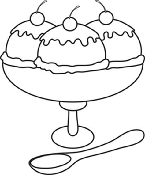 ice cream bowl coloring page ice cream sundae clip art black and white clipart panda