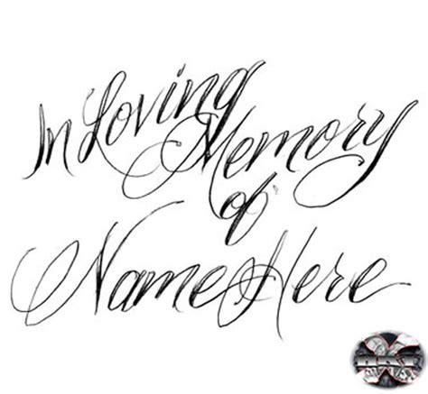 Tattoo Lettering In Loving Memory | index of images tattoo words done