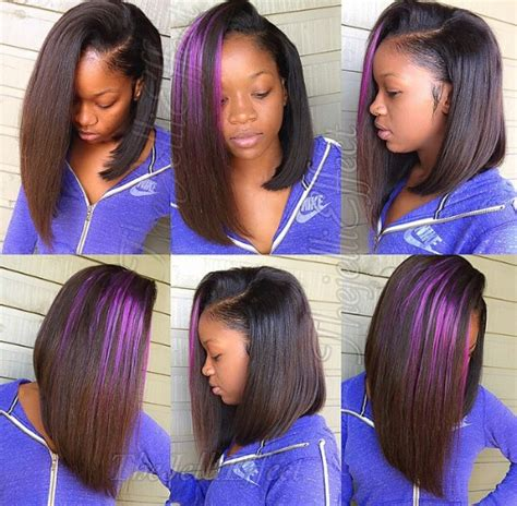 long bob sew in hairstyles side part bob sew in hair slayed slayyed hair