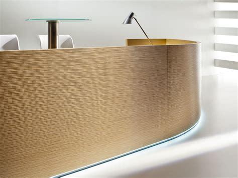 built in reception desk reception desk furonto collection by balma
