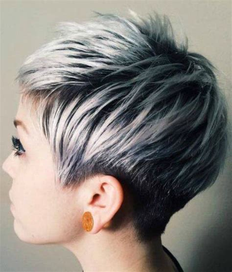 short styles for thick grey hair beautiful silver ombre hairstyles for short hair silver