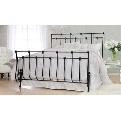 queen sleigh bed frame bello king or queen size steel frame sleigh bed black b551