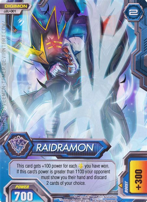 Digimon Card Template by Digimon Fusion Ccg Fan Card 001 Raidramon By Veemon