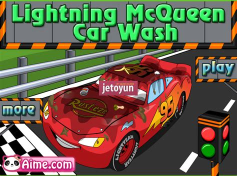 simsek mc queen araba yikama oyunu oyna araba oyunlari