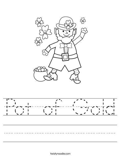 Gold Worksheets by Pot Of Gold Worksheet Twisty Noodle