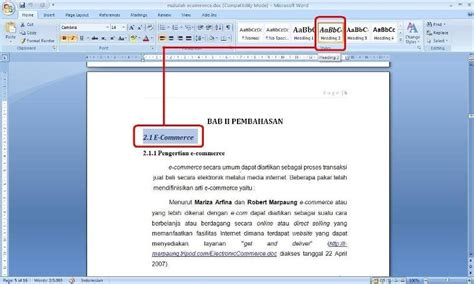 cara membuat format daftar isi word cara membuat daftar isi table of contents pada microsoft