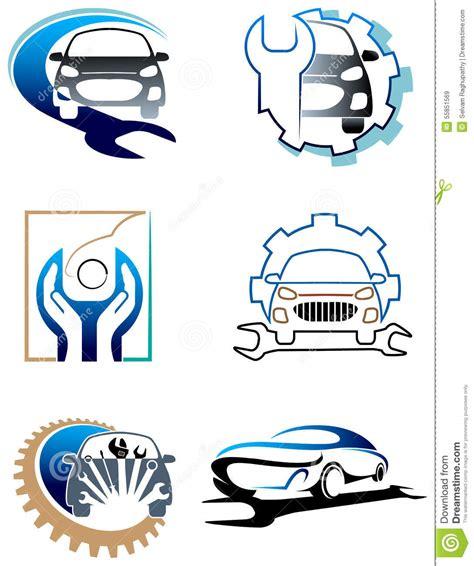 Free 2 Car Garage Plans Car Care Logo Set Stock Vector Image Of Emblem Engine