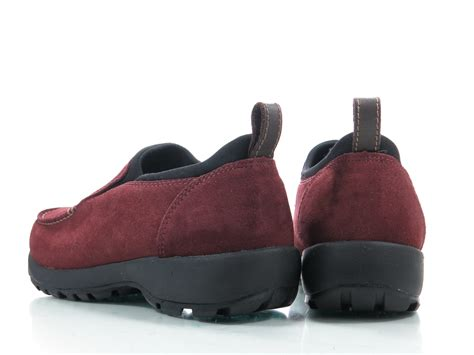 lands end shoes lands end 9 d womens shoes burgundy suede loafers slip on