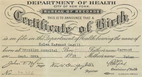 Child Birth Record Pin Child Birth Certificate On
