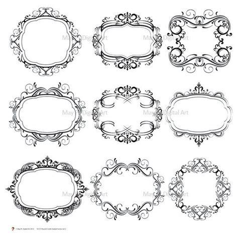 frame design company digital monogram frame flourish swirl clip art digital