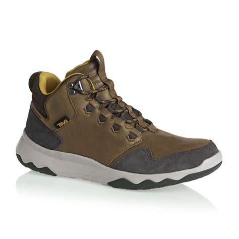 teva shoes teva arrowood mid shoes brown free uk delivery on all