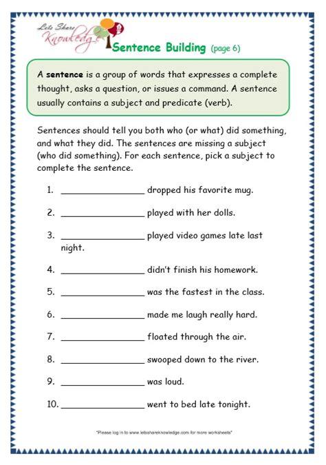 sentence building worksheets grade 3 topic sentence worksheet 3rd grade free worksheets library