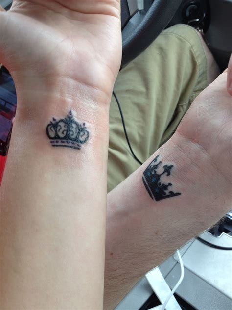 pinterest couples tattoos crown tattoos crown couples princess prince
