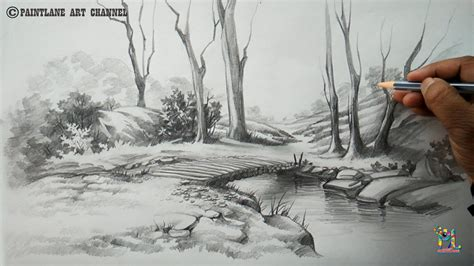 village boat drawing how to draw a easy and simple scenery with pencil step
