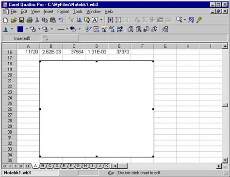 Quattro Pro Spreadsheet by Lecture Notes