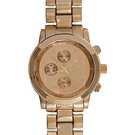 gold tone bracelet watches sale