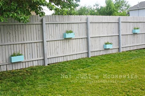 Privacy Fence Planter Box by Outdoor Decor Not Just A