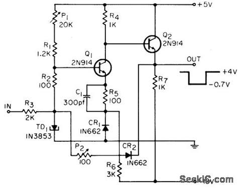 tunnel diode block diagram tunnel diode discriminator power supply circuit circuit diagram seekic