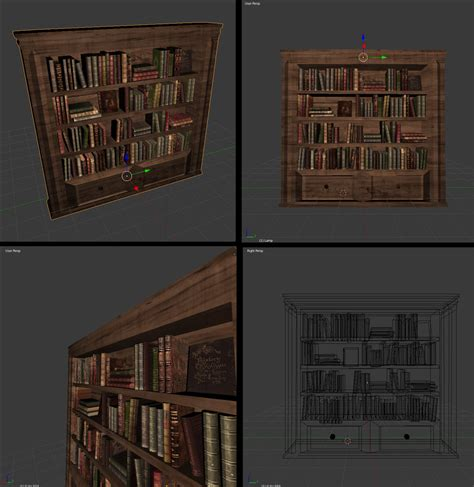 bookshelf 3d obj by alkhor on deviantart