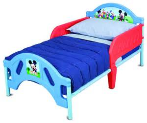 Toddler Beds Plastic Safe Lightweight Disney Mickey Mouse Metal Plastic Frame