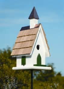 Small Cute Houses Country Church Bird House Birdhouses Pinterest