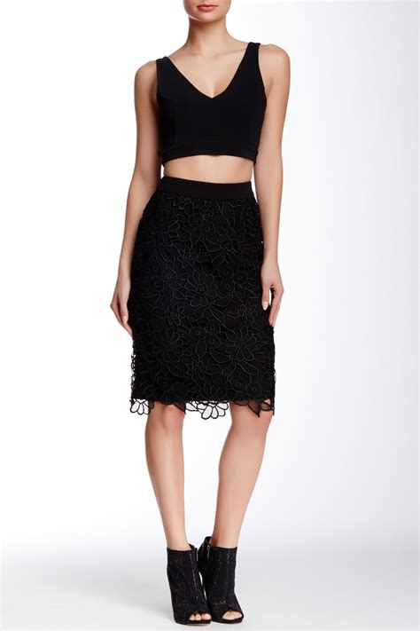 Lace H Line Skirt gracia lace h line skirt nordstrom rack