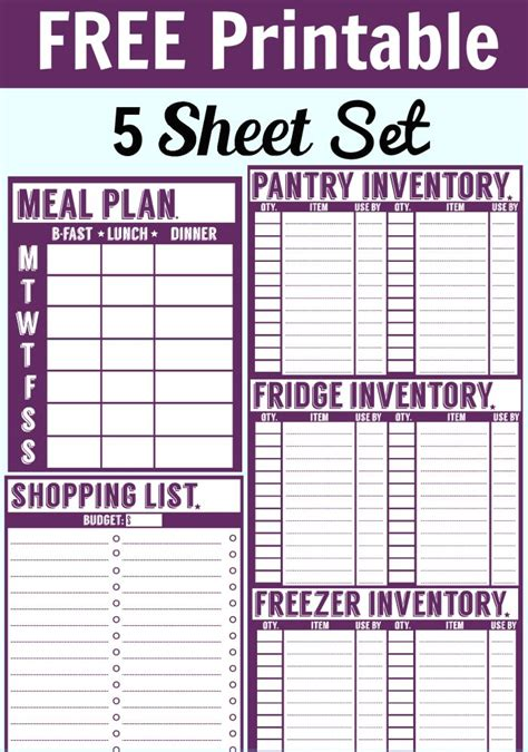 free printable personal planner pages faithful provisions best 25 freezer inventory printable ideas on pinterest