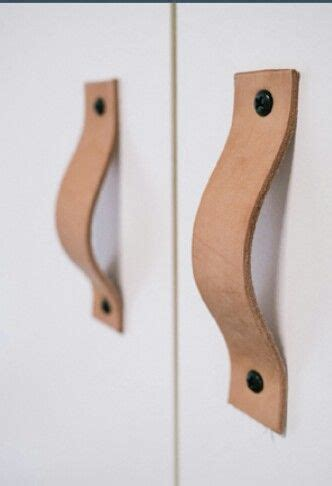 diy leather cabinet door handles it
