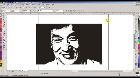 how to convert photo into black and white in coreldraw