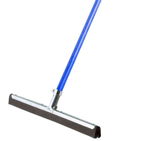 ettore wipe n 18 in dry floor squeegee with 53 in handle 61054 the home depot