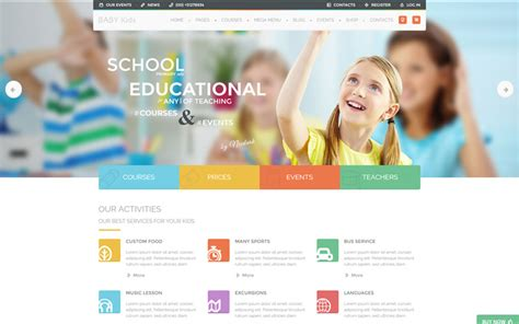 wordpress themes free baby baby kids education primary school for children wp theme