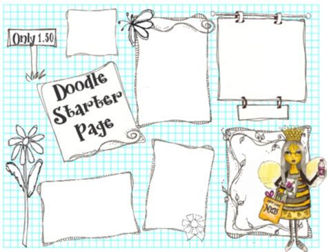 doodle starters not just any bee doodle the doodle starter book