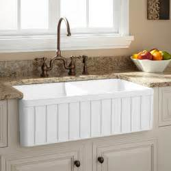 bowl farmhouse kitchen sink 36 quot gallo reversible 80 20 offset bowl italian