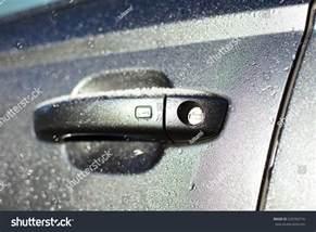 frozen car door lock stock photo 529760716