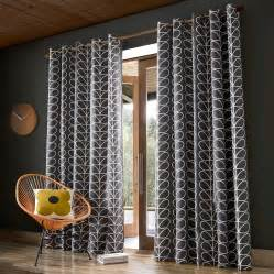 Grey Wall Lounge Orla Kiely Linear Stem Charcoal Curtains