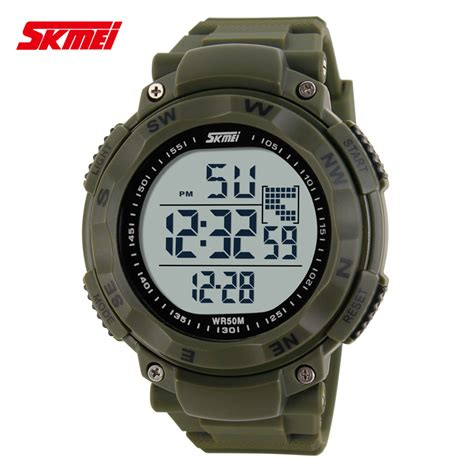 Jam Tangan Swis Army Water Resist skmei jam tangan digital pria dg1024 army green jakartanotebook