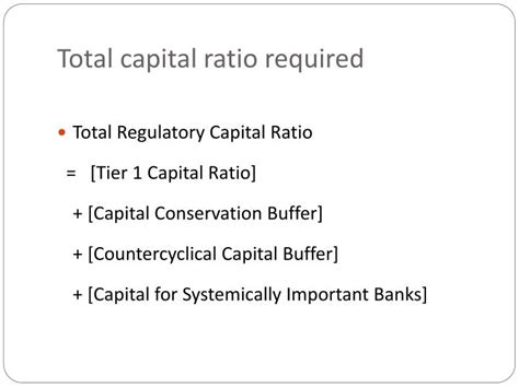 important ratios for banks ppt basel iii the new capital powerpoint