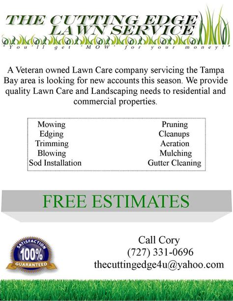 landscaping flyers templates lawn care flyer and direct marketing ideas lawn