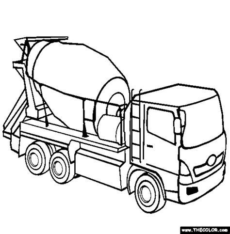 coloring pages bucket truck boom truck coloring pages