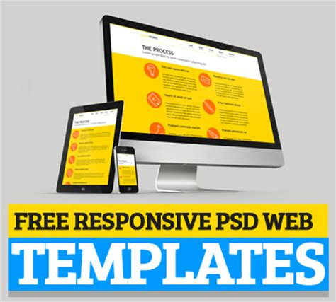 free responsive html templates responsive psd web templates 25 free templates psd