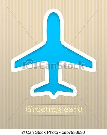 enveloppe postale illustration de vecteur clipart vecteur de carte postale avion vecteur illustration avion carte csp7933630